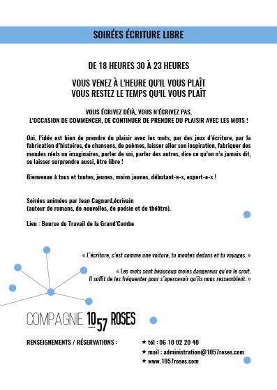 Trainance - LE 12 OCTOBRE 2017 - SOIRÉE ÉCRITURE LIBRE À LA GRAND'COMBE