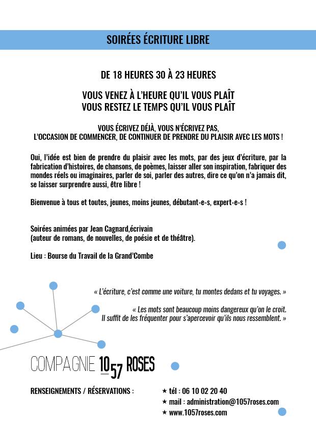 Trainance - LE 15 FÉVRIER 2018 : SOIRÉE ÉCRITURE LIBRE À LA GRAND'COMBE