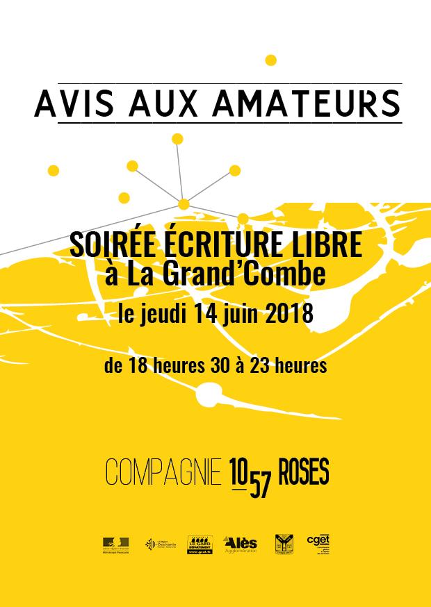 Trainance - LE 14 JUIN 2018 : SOIRÉE ÉCRITURE LIBRE À LA GRAND'COMBE